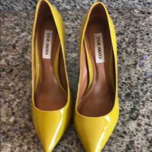 Mustard yellow pumps